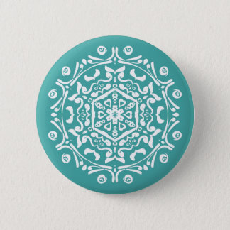 Blue Spruce Mandala Pinback Button