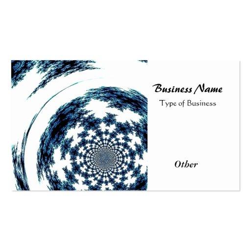 Blue Spun Thread Business Card Template