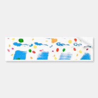 Blue Square Abstract Bumper Sticker