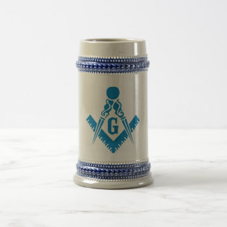 Blue Square and Compass Stein