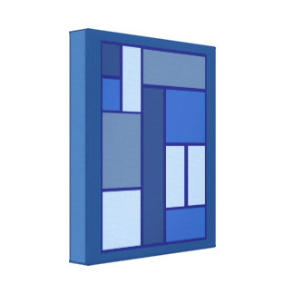 Blue Square Geometric - Emotion Form and Color Canvas Print