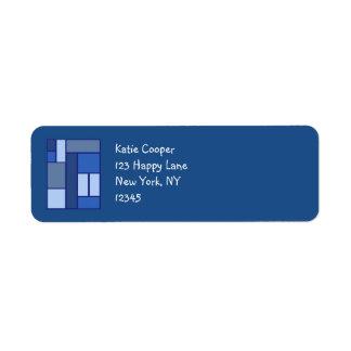 Blue Square Geometric - Emotion Form and Color Label