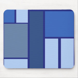Blue Square Geometric - Emotion Form and Color Mouse Pad