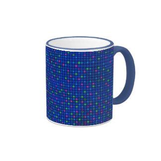 Blue Square Geometric Pattern Mug
