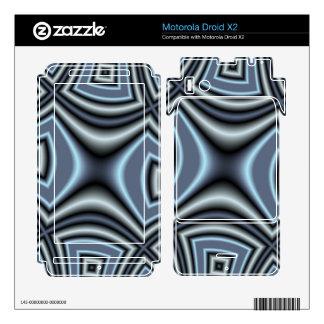 Blue Square Pattern Motorola Droid X2 Decal