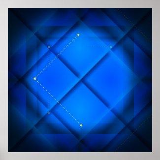 Blue Square Print