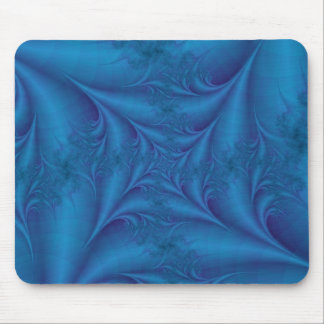 Blue Square Spiral Mousepad