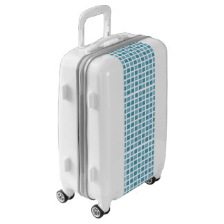 Blue Square Tiles Luggage