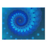 Blue Squares Abstract Art Posters