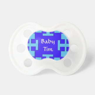 Blue  squares and squares BooginHead pacifier