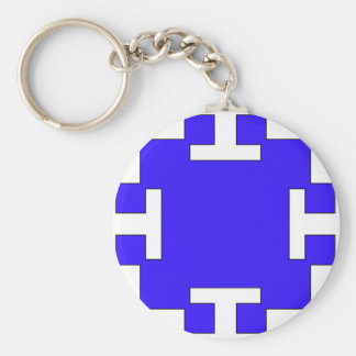 Blue  squares and squares keychain