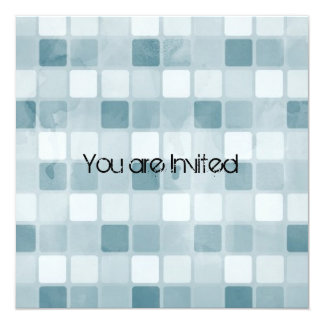 Blue Squares Baby Shower Card