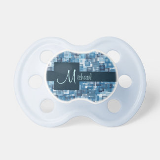 Blue Squares BooginHead Pacifier