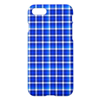 Blue Squares Check Pattern Fashion Design iPhone 7 Case