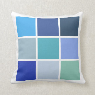 Blue Squares Cushion