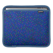 Blue Squares Design Pattern iPad Sleeve