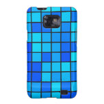 Blue Squares Design Samsung Galaxy SII Cases