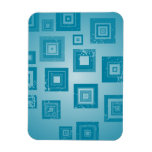 Blue Squares Design Vinyl Magnet