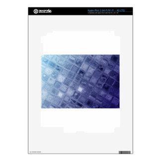 Blue squares iPad 3 skin
