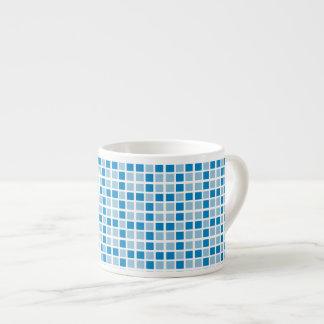 Blue Squares Pattern Espresso Cup