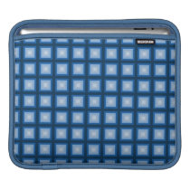 blue squares pattern sleeve for iPads