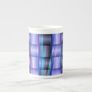 Blue squares porcelain mug