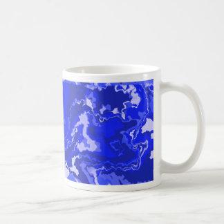 Blue Squiggles Design Coffee Mug