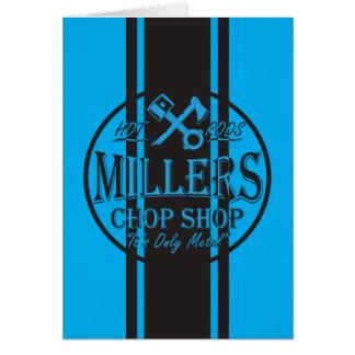 Blue SS Stripes Hot Rods Logo Card