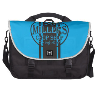 Blue SS Stripes Hot Rods Logo Laptop Messenger Bag