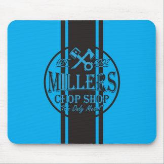 Blue SS Stripes Hot Rods Logo Mouse Pad