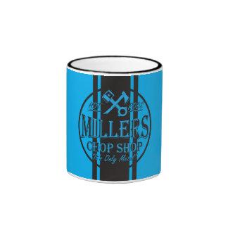 Blue SS Stripes Hot Rods Logo Ringer Mug