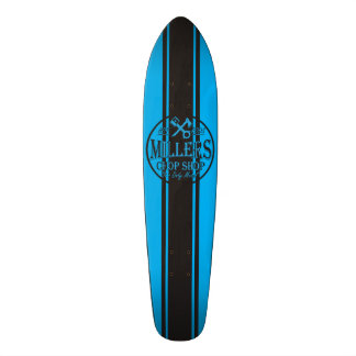 Blue SS Stripes Hot Rods Logo Skateboard