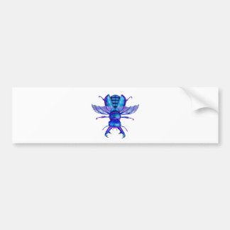 Blue Stag Beetle Bumper Sticker