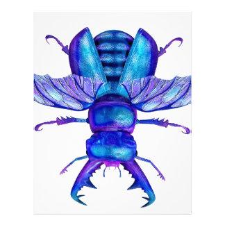 Blue Stag Beetle Letterhead