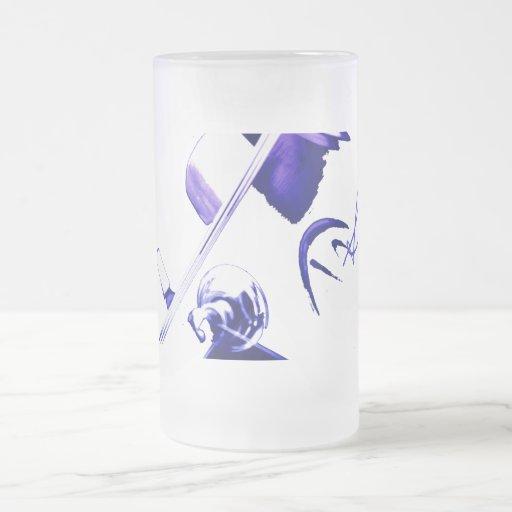 blue stag frosted beer mug