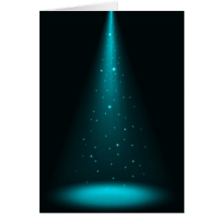 Blue Stage Spotlight Stationery Note Card