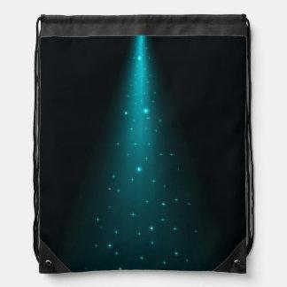 Blue Stage Spotlight Drawstring Backpack
