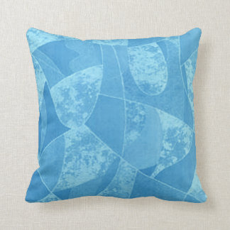 Blue Stain Glass Reversible Pillow