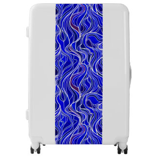 Blue Stained Glass Abstract Luggage