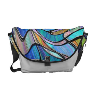 Blue Stained Glass Messenger Bag