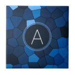 Blue Stained Glass Mosaic Ceramic Tile