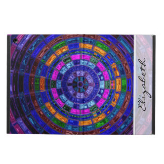 Blue Stained Glass Mosaic Pattern Cover For iPad Air