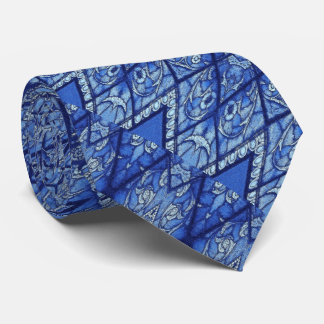 Blue Stained Glass Neck Tie