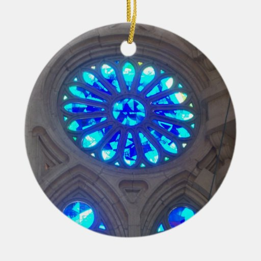 Blue Stained Glass Ornaments