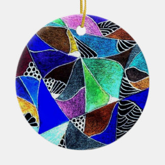 Blue Stained Glass Ornament