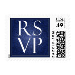 Blue Stained Glass RSVP - Small Stamp
