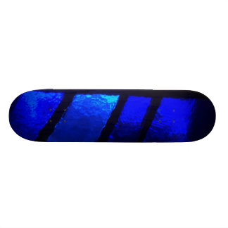 Blue Stained Glass Skateboard Deck Art