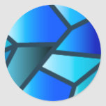 Blue Stained Glass Sticker