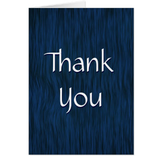 Blue Stained Rough Wood Thank You Card