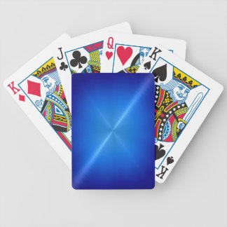 Blue Stainless Shiny Metallic Bicycle Playing Cards